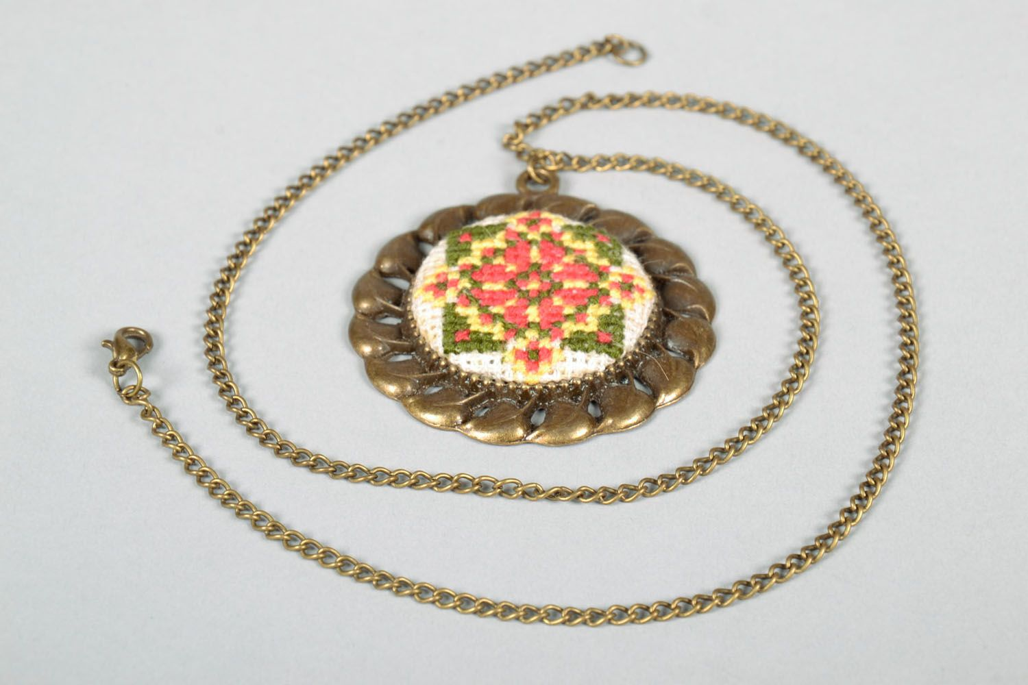 Pendant with embroidery photo 5