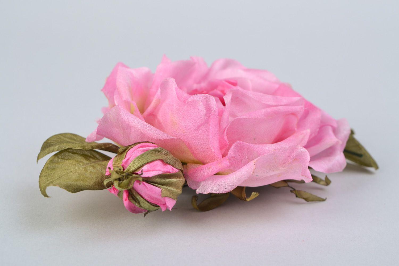 Madeheart Homemade Silk Flower Brooch Wild Rose
