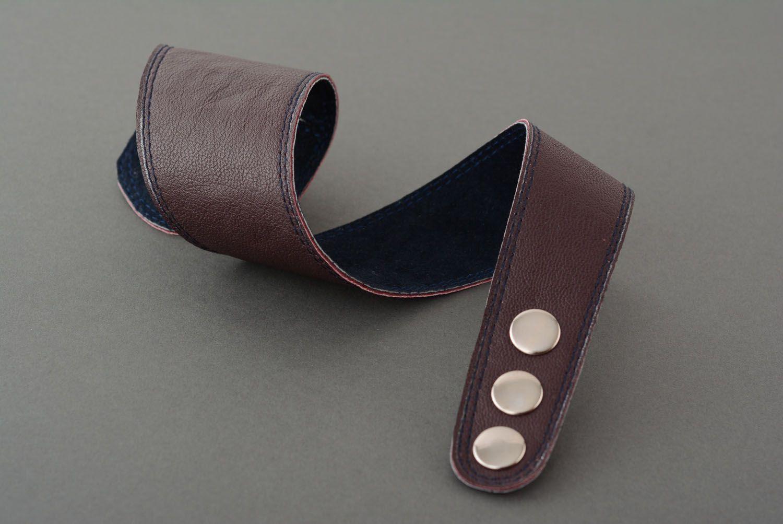 Homemade leather bracelet photo 4