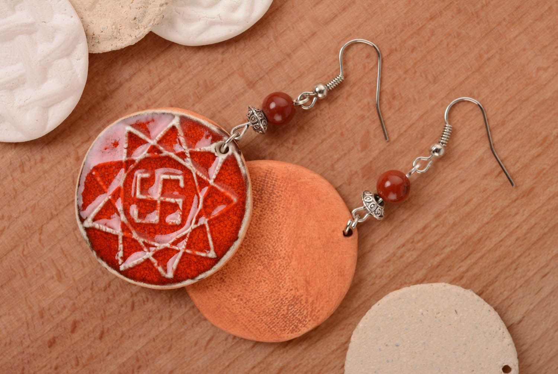 Round earrings amulets Oberezhnik photo 3