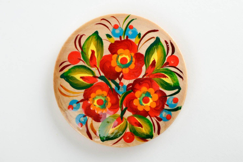 Handmade fridge magnet souvenir ideas folk art wooden gifts refrigerator magnets photo 3