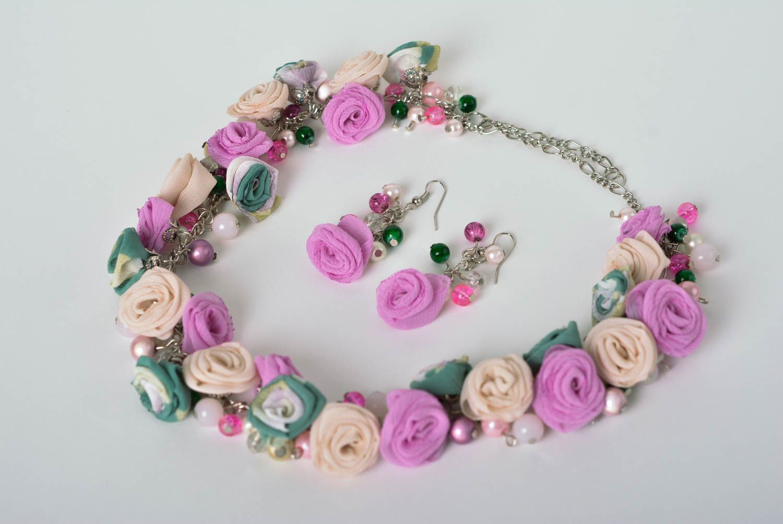 sets de joyas Aretes hechos a mano collar artesanal estiloso bonito bisutería fina elegante , MADEheart