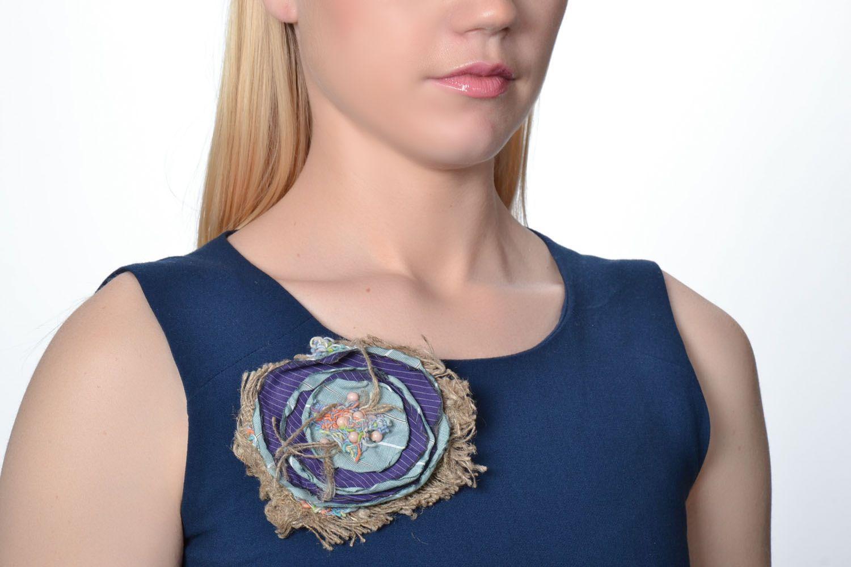 Designer fabric brooch photo 2