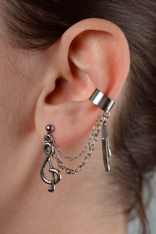Metal earrings Notes photo 3