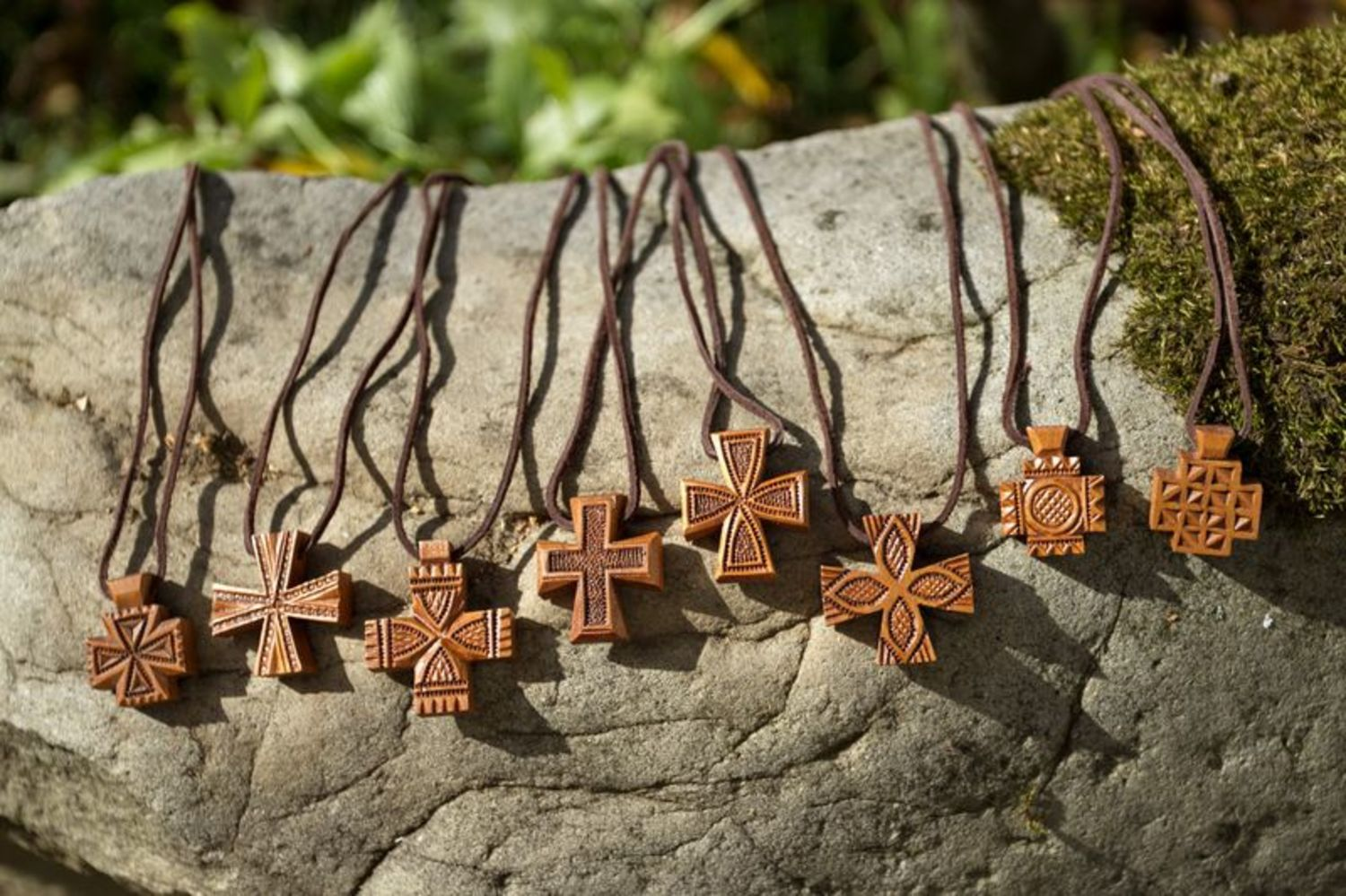Carved wooden cross photo 3