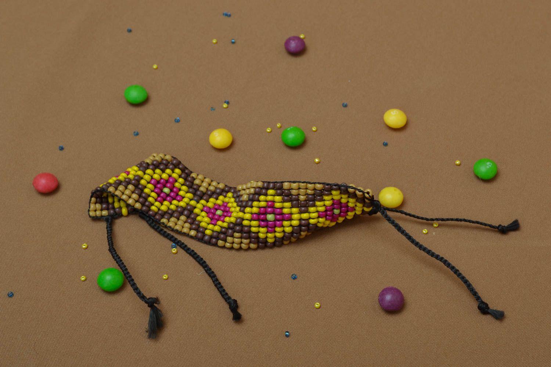 Wide beaded bracelet photo 5