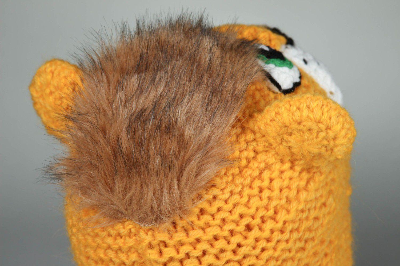 headwear Handmade crocheted hat Lion - MADEheart.com