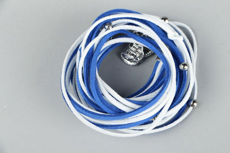 Suede bracelet in marine style-1