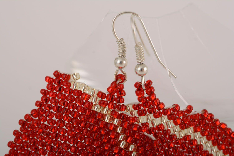 Beaded earrings Butterflies photo 2