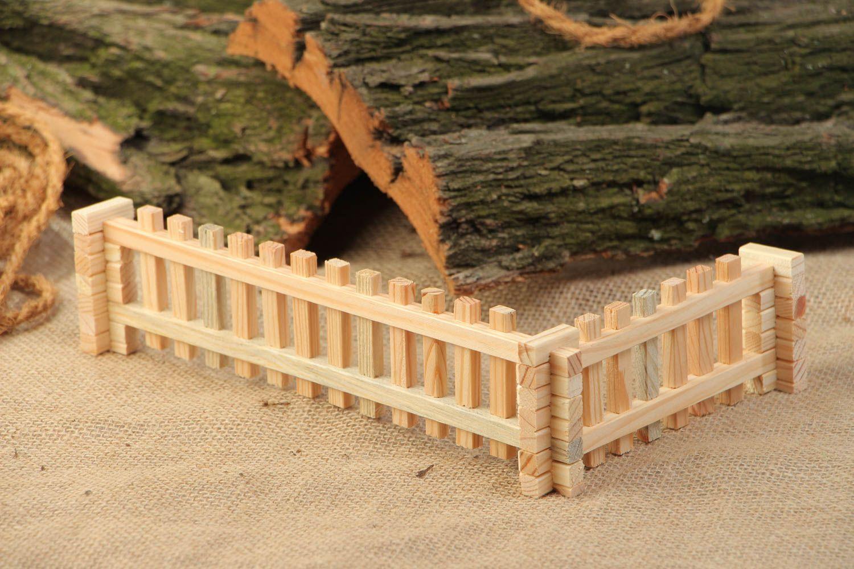 Construction Bois Ecologique : Jeu de construction en bois de sapin Barri?re jouet ?cologique fait
