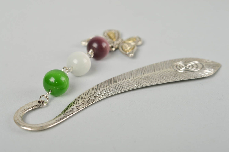 madeheart marque page m tal fait main accessoire livre plume perles c ramiques id e cadeau. Black Bedroom Furniture Sets. Home Design Ideas