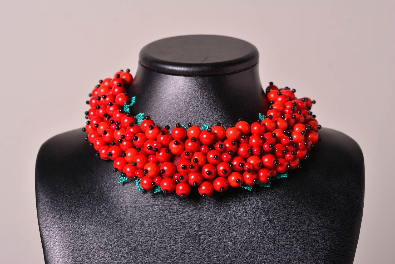 993a6dc61e23 joyería de Tela Collar original de color rojo soutache bisutería artesanal  regalo para mujer - MADEheart