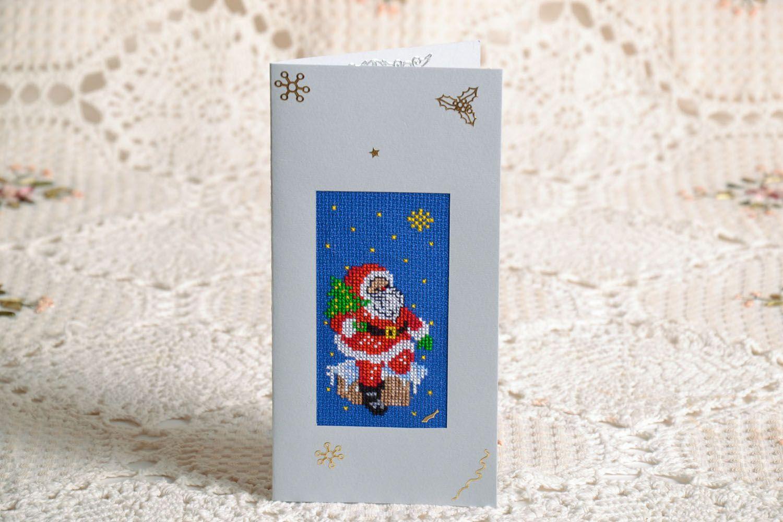 Christmas handmade postcard  photo 1