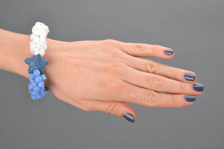 Natural stone wrist bracelet photo 2