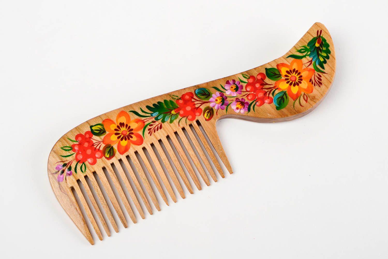 Деревянная расческа в подарок 79
