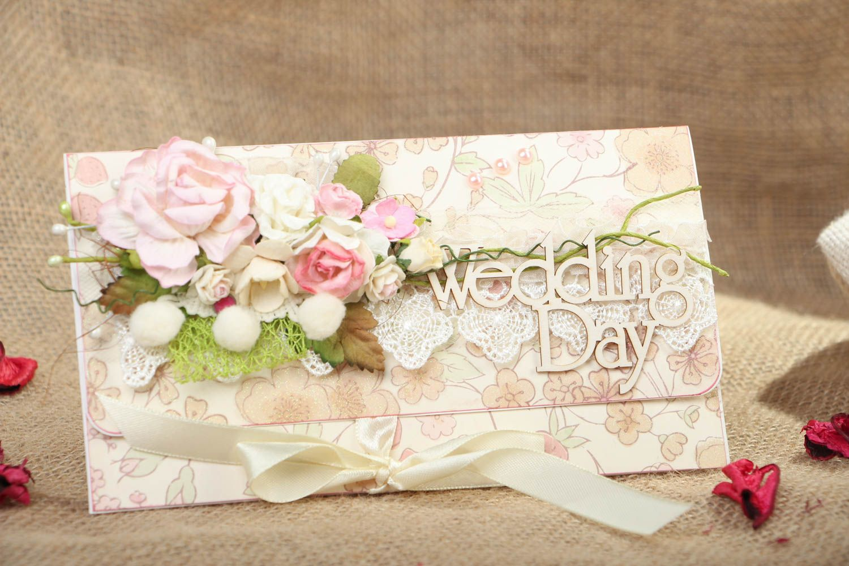 Homemade wedding greeting card photo 4