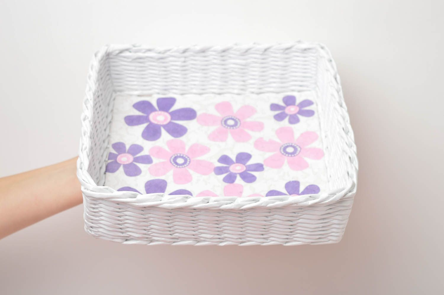 Handmade decorations woven basket paper basket gifts for women home decor photo 5