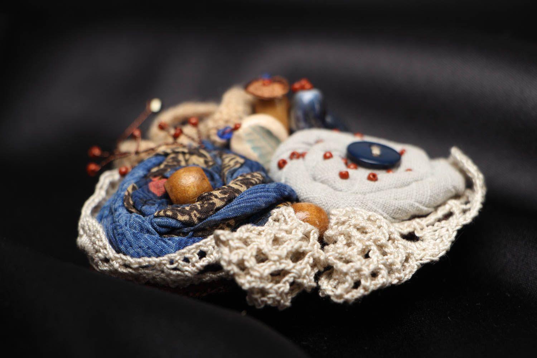 Unusual fabric brooch Winter Still Life photo 2