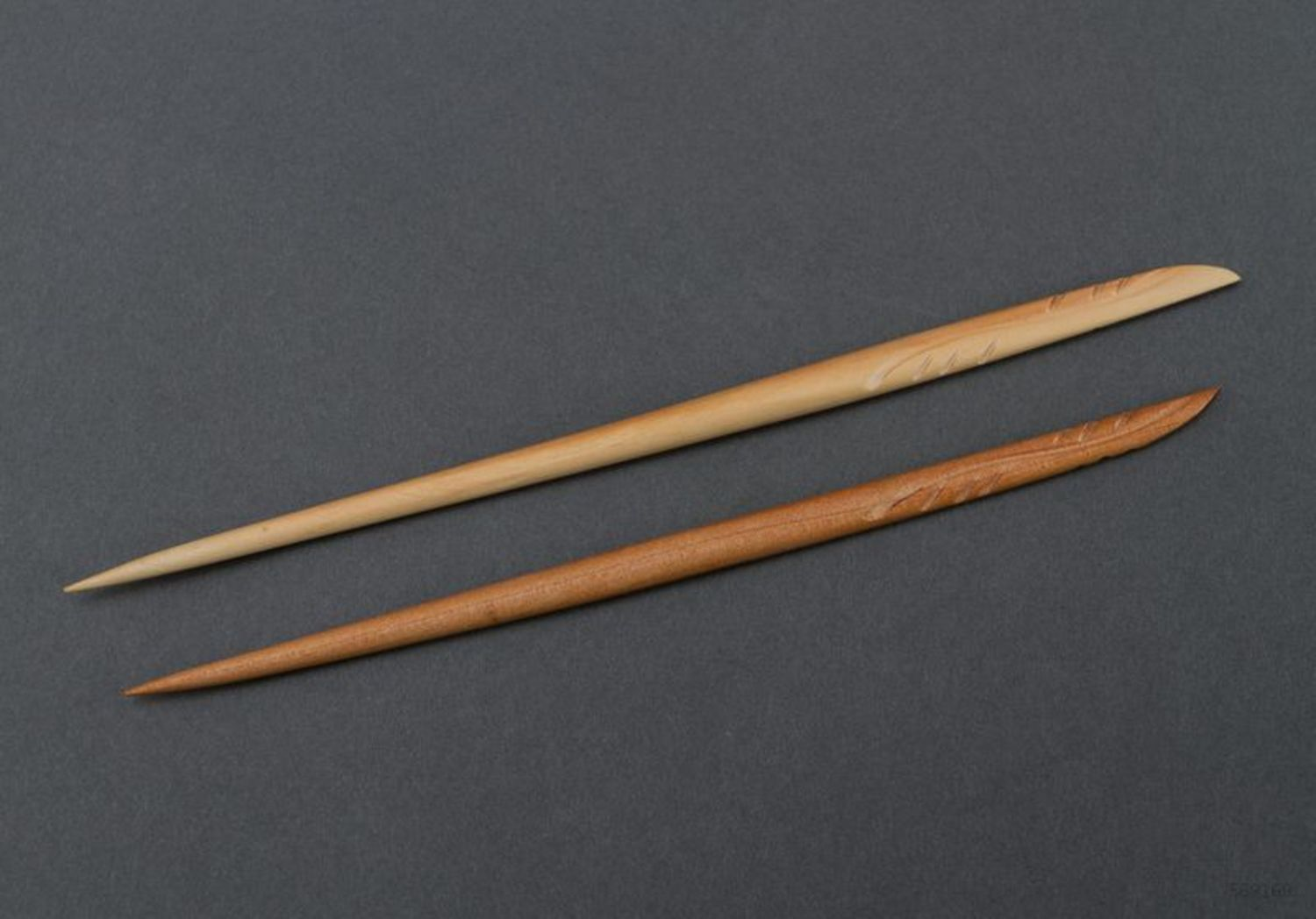 Wooden hair sticks photo 4