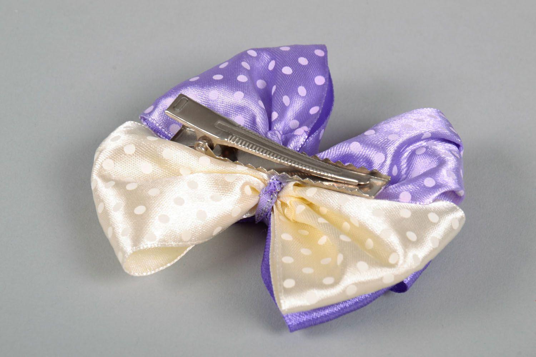 Hair clip Violet Bow photo 5
