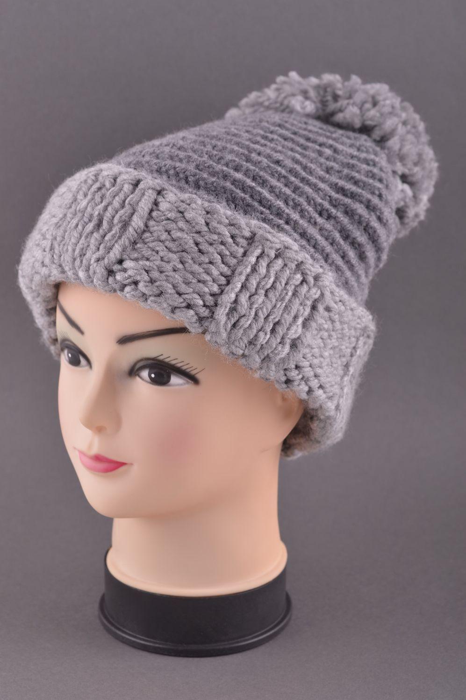 headwear Handmade woolen winter hat hand-knitted hat winter accessories  warm hat - MADEheart. 475902bf30c1