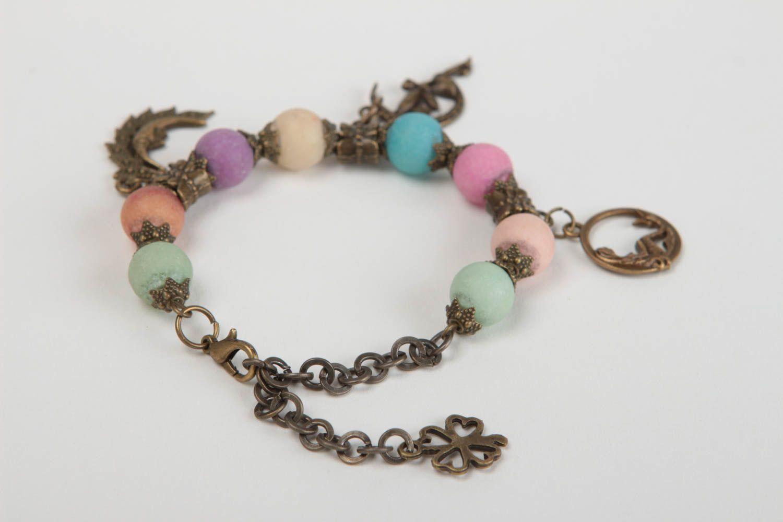 Beautiful handmade beaded bracelet gemstone bracelet fashion accessories photo 4