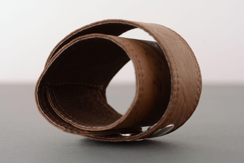 Leather bracelet unisex photo 3