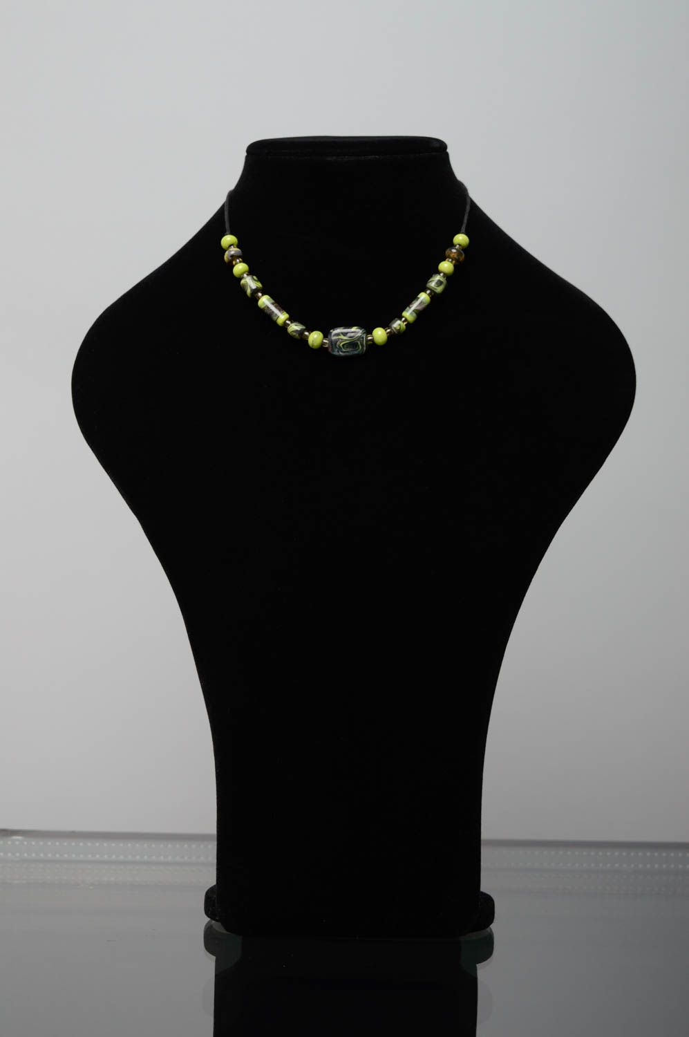 Lampwork glass necklace photo 2