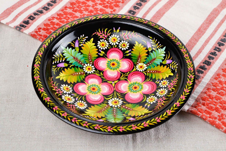 Madeheart plato pintado hecho a mano de madera adorno - Platos decorativos pared ...