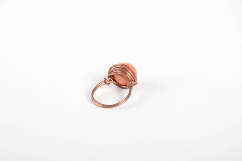 Handmade copper designer ring unusual beautiful ring stylish jewelry for women photo 4