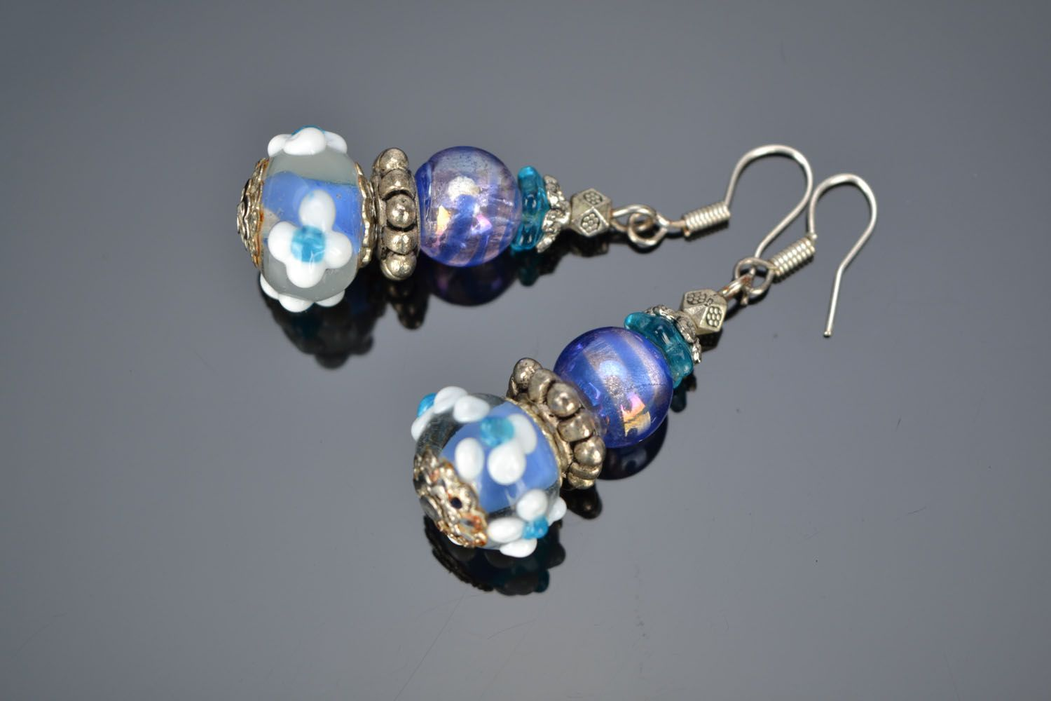 Designer glass earrings photo 1