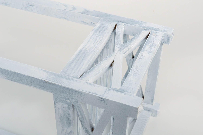 hangers and Coat Racks Unusual white handmade designer pine wood flower pot holder home decor - MADEheart.com