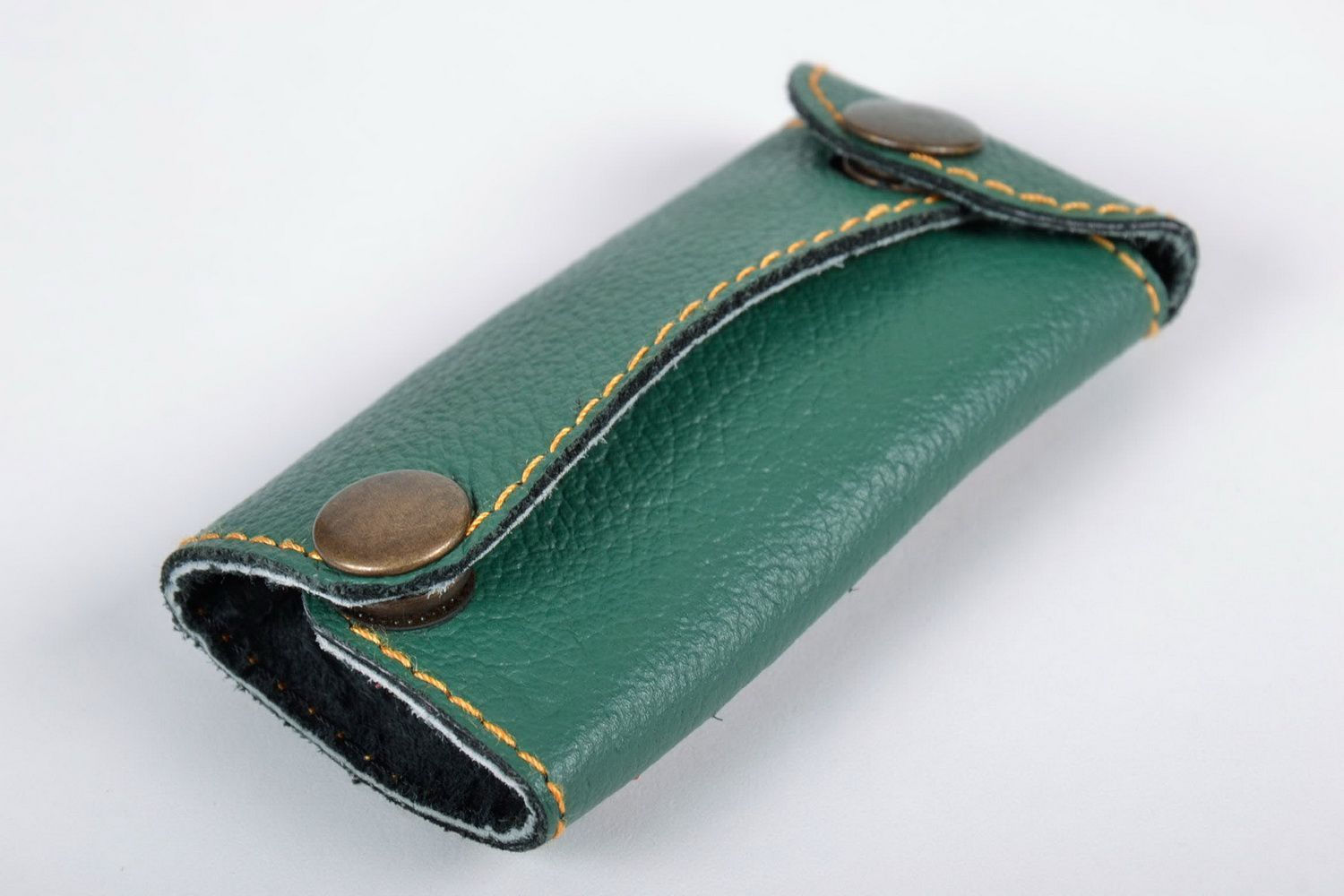 purses Green leather key holder - MADEheart.com