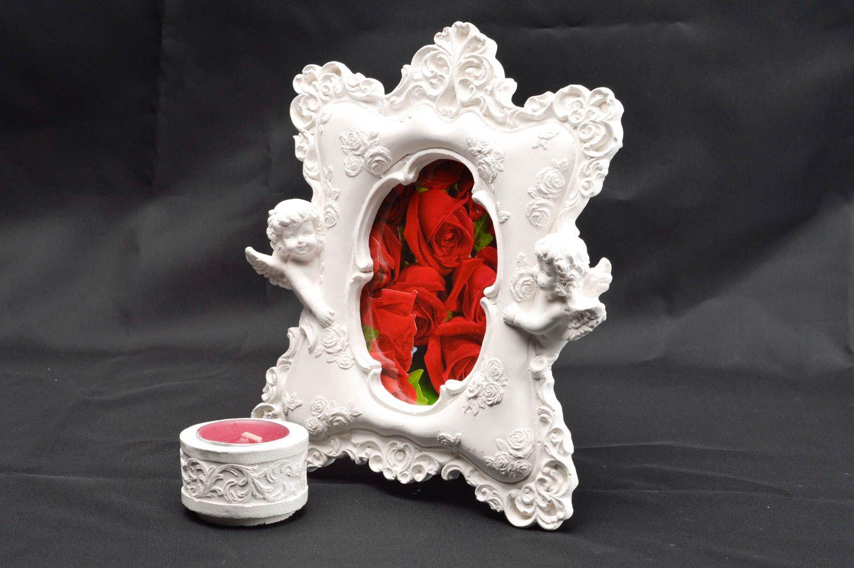 MADEHEART > Marco para decorar foto hecho a mano de yeso adorno de ...
