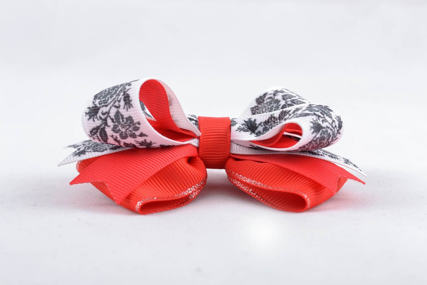 Ribbon bow for hair clip America photo 2