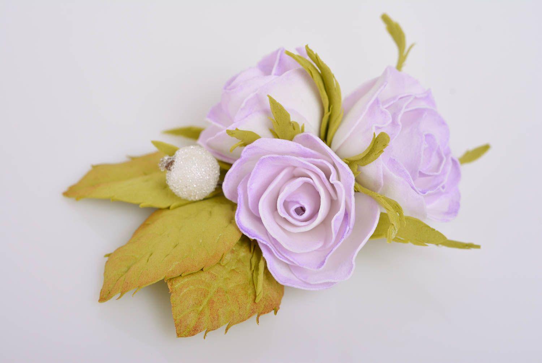 Цветы из фоамирана для заколки своими руками 77