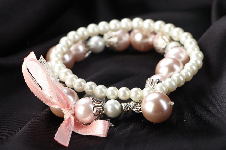 Set of pearl bracelets photo 2