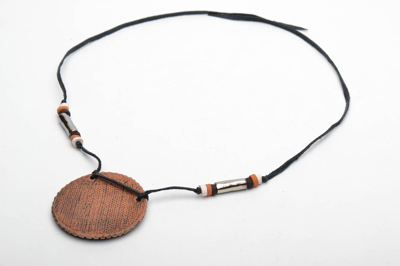 Керамический кулон в этно стиле фото 5