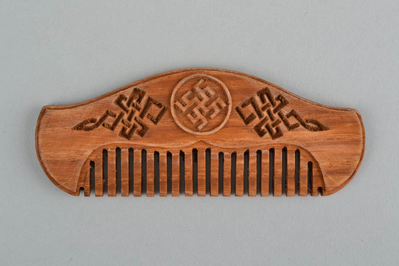 Ohrringe Aus Holz FUr Männer ~ Designer Bartkamm aus Holz originell handgemacht in Braun für Männer