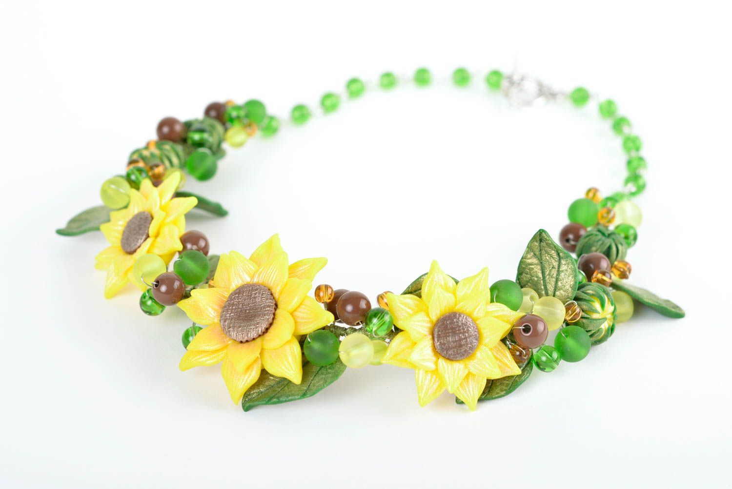 Beautiful flower jewelry set accessories in ethnic style handmade necklace photo 2