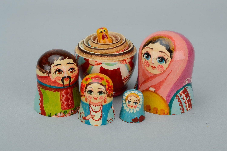 Set di 10 Bambole Tochigi dipinte a Mano a Forma di Cuore di Cuori matrioska Toy Nesting Doll