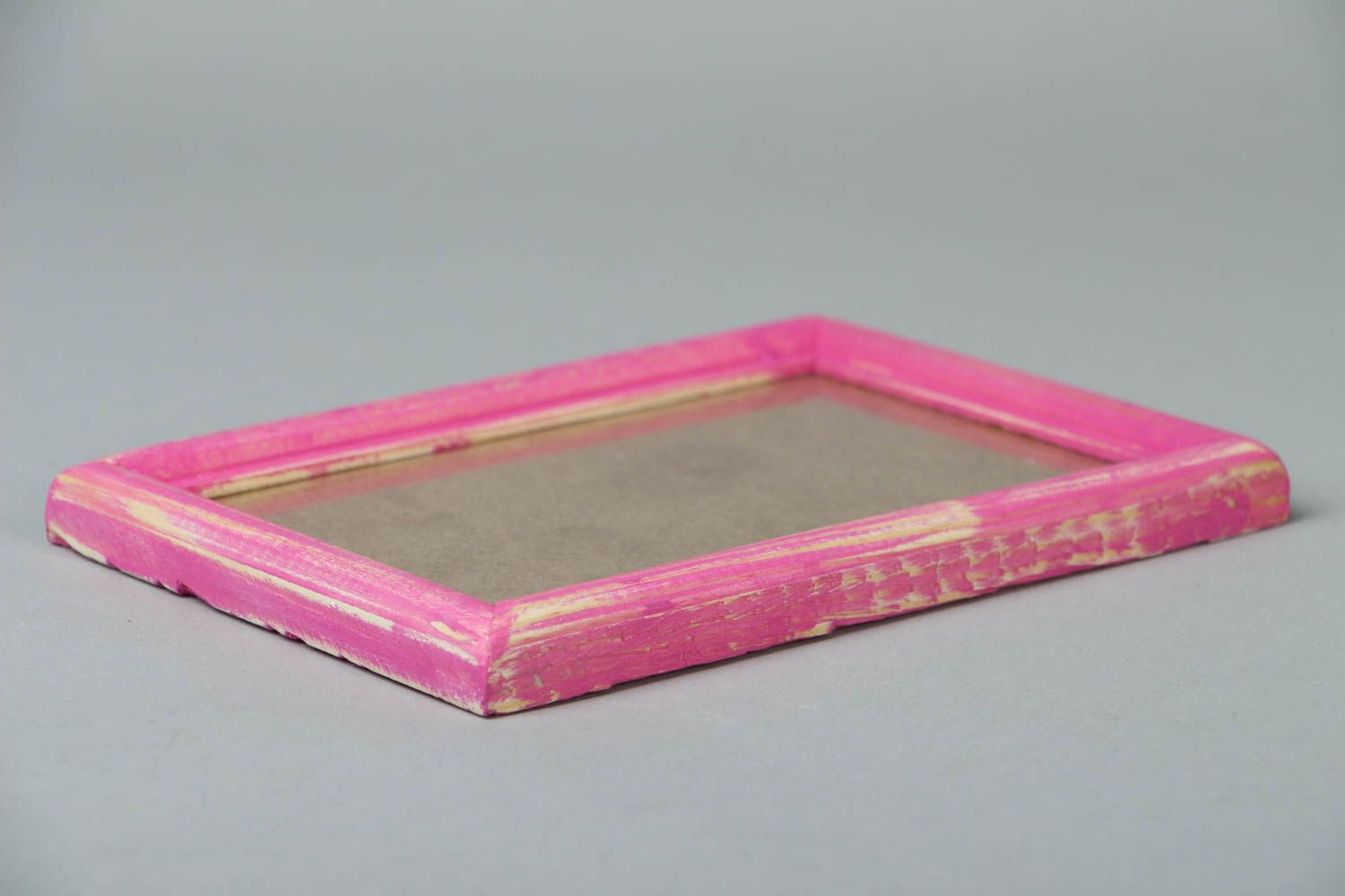 Pink wooden photo frame photo 3