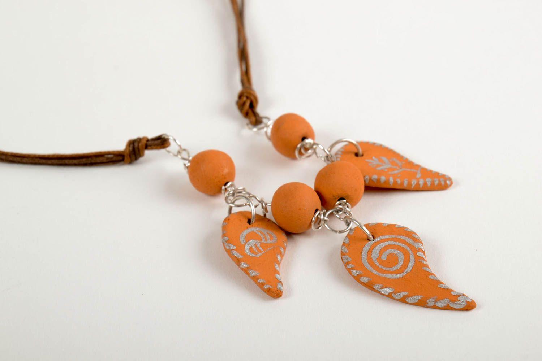 Handmade beaded necklace ceramic beautiful necklace female cute presents photo 5