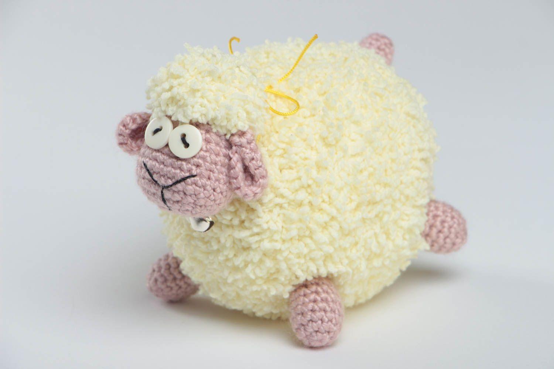 Вязание крючкомигрушка овечка 33