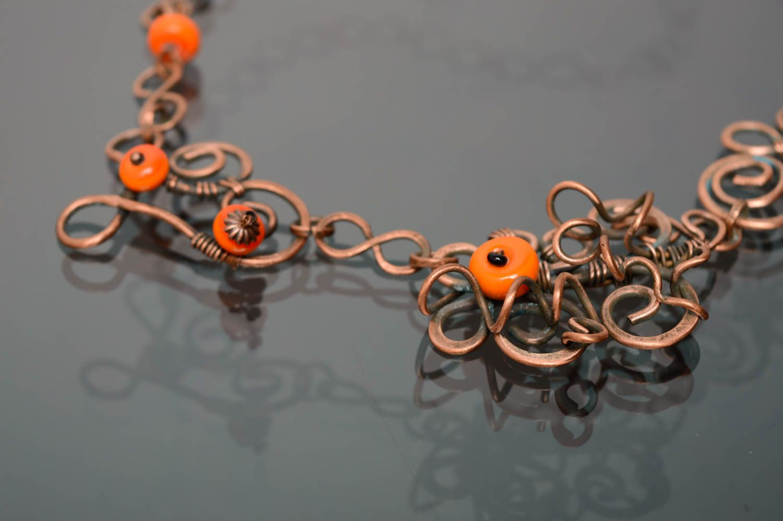 Handmade Collier aus Kupfer  foto 4