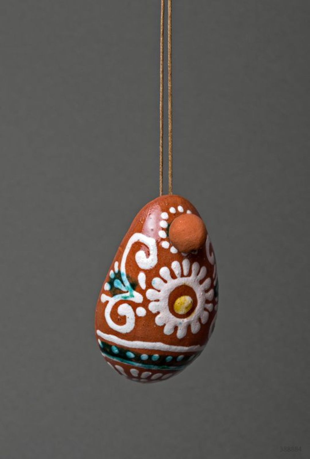 Ceramic bell in the shape of an egg  photo 3