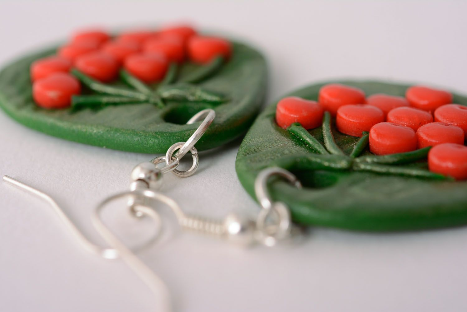 Polymer clay earrings photo 3