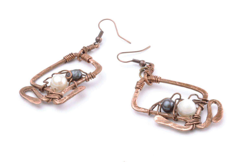 Copper earrings Overseas Dreams photo 4
