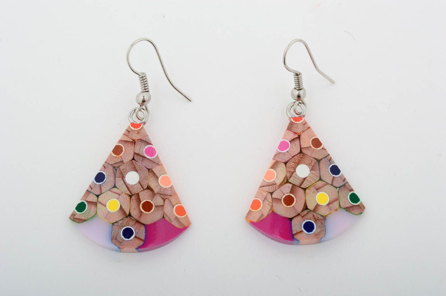 Wooden designer earrings handmade earrings with charms stylish accessories  photo 3