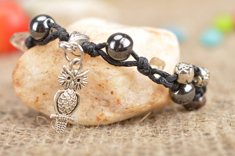 ef6d7ab342a9 pulseras de cuentas de vidrio Pulsera de cuentas hilos y piedras naturales  trenzada hecha a mano
